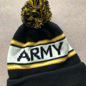 army Accessories - Black and yellow army pom pom beanie cd6cab130a6